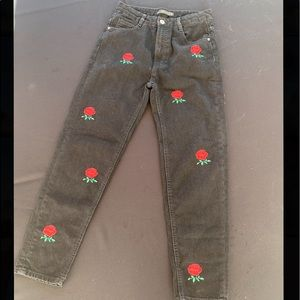 Zara Rose embroidered Jeans